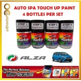 PERODUA Alza Original Touch Up Paint - AUTOSPA Touch Up Combo Set (4 Bottles Per Set)