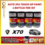 PROTON X70 Original Touch Up Paint - AUTOSPA Touch Up Combo Set (4 Bottles Per Set)