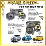 """Adams Digital Plug N Play Perodua Myvi Lagi Best / Icon OEM Speaker 4""""2 way and 6"""" 2 way Car Coxial Speaker"""