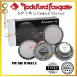 Rockford Fosgate R165X3 Car Speaker 6.5 inch 3 way Coaxial Prime Series spk 90 Watts Speaker Kereta