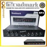 Roadmark Pre AMP Parametric Equalizer Audio Equalizer 4 Band Preamp