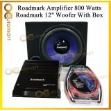 Package Set Roadmark R2 Amplifier 12 inch Woofer With Box Roadmark 2ch Amp Woofer With Box installation Wire Kit