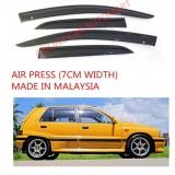 AG Air Press Door Visor Wind Deflector (Made in Malaysia) - Small 7 cm Width for DAIHATSU AURA (4DR)