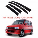 Air Press Car Window Door Visor Wind Deflector Anti UV Light 8cm (4PCS/SET) for Perodua Kenari