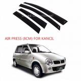 Air Press Car Window Door Visor Wind Deflector Anti UV Light 8cm (4PCS/SET) for Perodua Kancil