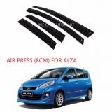 Air Press Car Window Door Visor Wind Deflector Anti UV Light 8cm (4PCS/SET) for Perodua Alza