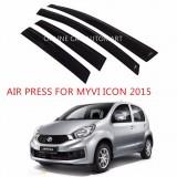 Air Press Car Window Door Visor Wind Deflector Anti UV Light 8cm (4PCS/SET) for Perodua Myvi Icon Yr 2015