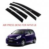 Air Press Car Window Door Visor Wind Deflector Anti UV Light 8cm (4PCS/SET) for Perodua Myvi Lagi Best