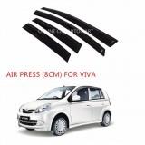 Air Press Car Window Door Visor Wind Deflector Anti UV Light 8cm (4PCS/SET) for Perodua Viva