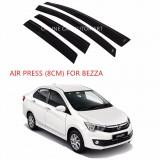 Air Press Car Window Door Visor Wind Deflector Anti UV Light 8cm (4PCS/SET) for Perodua Bezza