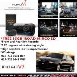 Alfa Romeo 145/146-IROAD V7 DVR RECORDER Front Rear HD 2 Channel In Car Camera