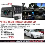 Alfa Romeo 166-iRoad T10 WIFI-LCD 2CH Blackbox Dashcam 16GB+GPS SET(WiFi Dongle, Uninterrupted Fuse Cable), FullHD(1080p), WIFI DVR Car Vehicle Video Recorder - Dash Camera Video Recorder Digital DVR Recorder