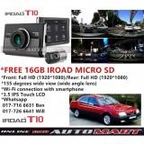Alfa Romeo 164-iRoad T10 WIFI-LCD 2CH Blackbox Dashcam 16GB+GPS SET(WiFi Dongle, Uninterrupted Fuse Cable), FullHD(1080p), WIFI DVR Car Vehicle Video Recorder - Dash Camera Video Recorder Digital DVR Recorder