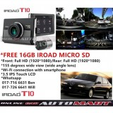 Alfa Romeo 145/146-iRoad T10 WIFI-LCD 2CH Blackbox Dashcam 16GB+GPS SET(WiFi Dongle, Uninterrupted Fuse Cable), FullHD(1080p), WIFI DVR Car Vehicle Video Recorder - Dash Camera Video Recorder Digital DVR Recorder